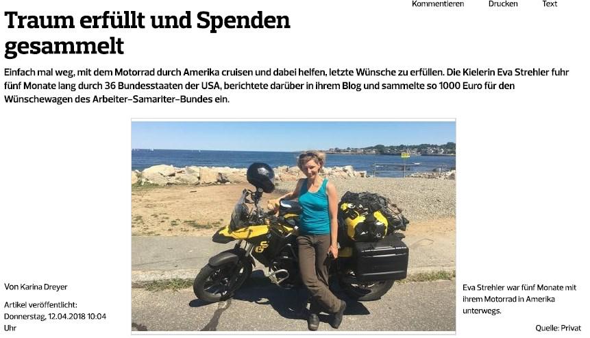 Kieler Nachrichten Bericht