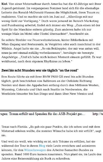 Bericht Kieler Nachrichten